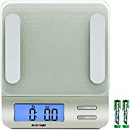 Accuweight 207 Digital Kitchen Multifunction Food Scale for Cooking with Large Back-lit LCD Display,Easy to Cl