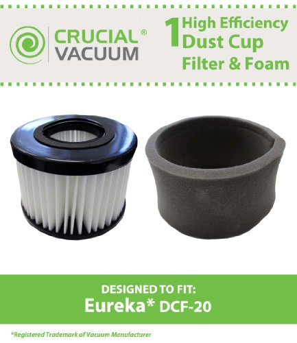 Eureka DCF-20 Washable & Reusable Filter & Foam; Fits Eureka Envirovac Uprights 3041AZ, 3041AQU, 3041RED, 3041BZ; Replaces Part # 3041, DCF20; Designed & Engineered in the USA - Eureka Foam Filter