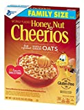 #10: Honey Nut Cheerios Naturally Flavored Sweetened Whole Grain Oat Cereal, 19.5 Ounce