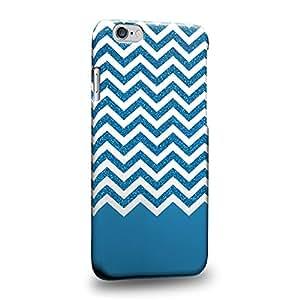 """Case88 Premium Designs blue glitter chevron trend mix Carcasa/Funda dura para el Apple iPhone 6 4.7"""""""