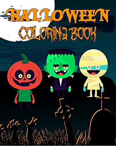 Halloween Coloring Book: 31 Illustrations For Your Child To Color, With A Spooky Fact On Each -