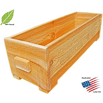 Well Wreapped Set Of 2 Pennington Solid Wood Cedar Outdoor Planter