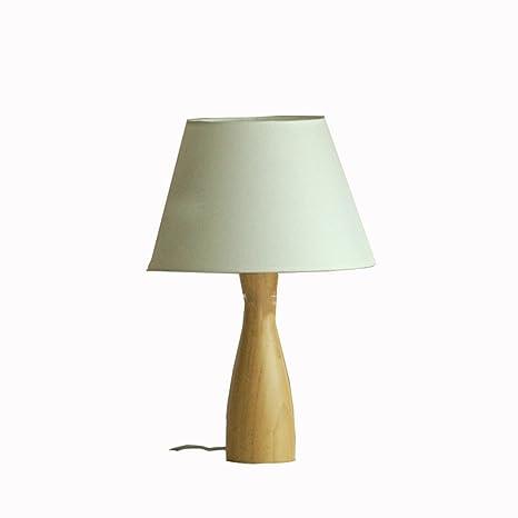 Nordic Fácil roble Noche Lámpara de mesa Madera maciza ...