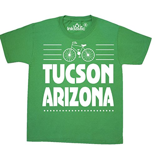 inktastic Tucson Arizona Biking Youth T-Shirt Youth Medium (10-12) Kelly Green (Commuter Cycling Shirt)