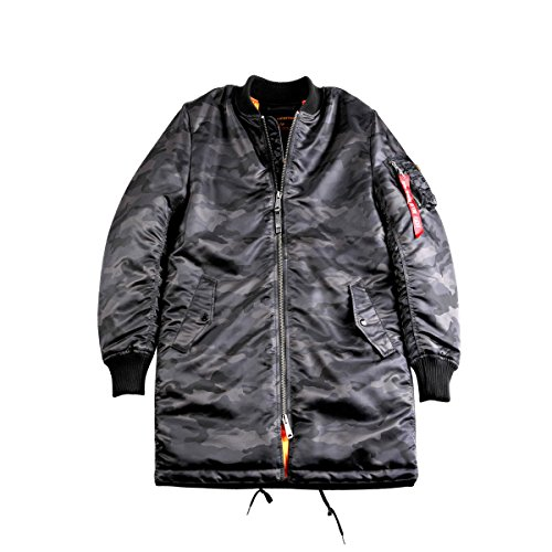 Jacke Ma Alpha Industries Black Coat Camo 1 wpnBZq