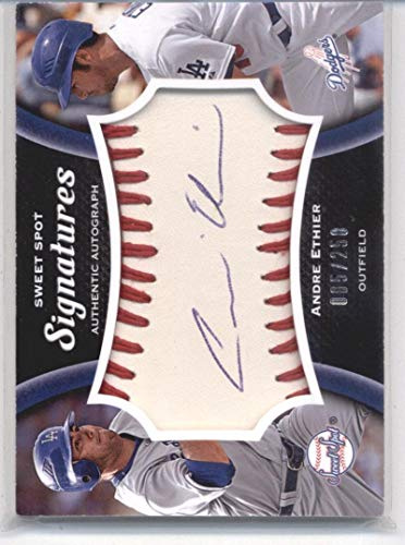 2008 Upper Deck Sweet Spot Signatures Red Stitch Blue Ink #AE Andre Ethier Dodgers MLB Baseball Card (Autographed) /250 NM-MT