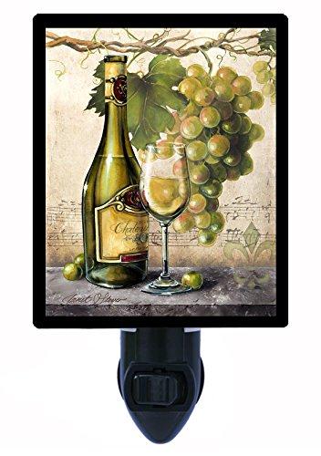 Les Vins Blancs - Night Light - Vin Blanc Elegant - Wine Grapes - Kitchen