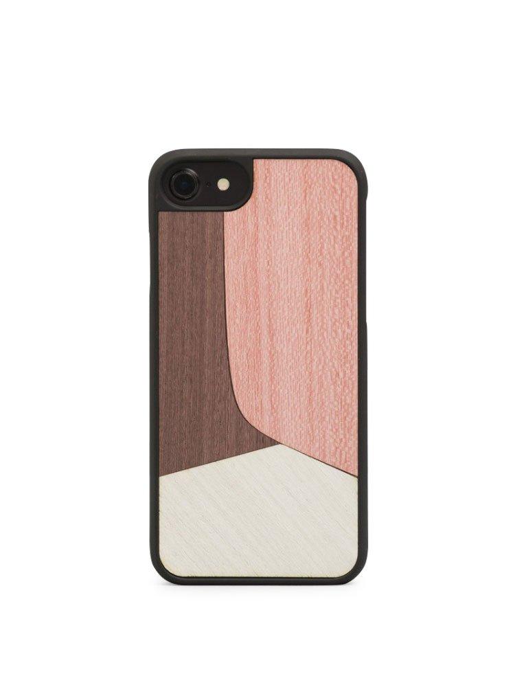 ウッド Wood'd iPhone8 iPhone7 iPhone6 ケース Real wood Snap-on covers ITALY INLAY B074XTSKT6 INLAY-PINK INLAY-PINK
