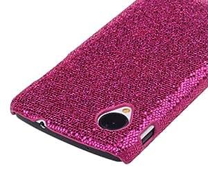 Nexus 5 Case,Cotowin Rose Bling Glitter Shining Hard Case Protective Phone Cover Skin for Google Nexus 5