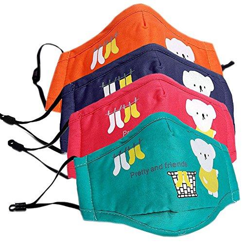 Ayygift-4-Pcs-PM25-Kids-Face-Mouth-Mask-Cute-Bear-Toddlers-Gauze-Mask
