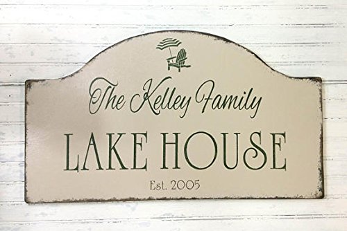 Wood Plaque Custom personalized lake house sign, beach house, Father