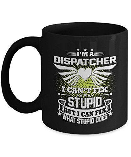 911 Dispatcher Mug Dispatcher Mug Dispatcher Coffee Mug Funny Police Travel Gifts For Your Dad Mom Friend as Seen on T Shirt 11 Ounce Black Ceramic Cu