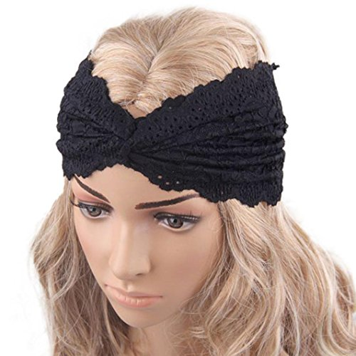 Vintage Cross Headband, Malltop Pop Style Women Headwear Twist Sport Yoga Turban Lace Headscraf Wrap