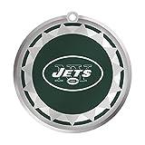 New York Jets Glass Logo Disc Ornament