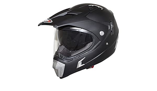 Casco Moto Cross Shiro MX-Tourism 311, Color Negro Mate, (Negro Mate), Extra-Large: Amazon.es: Zapatos y complementos