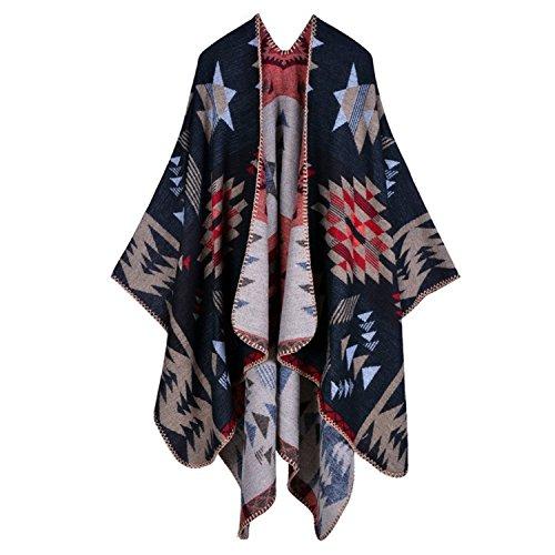 Aibayleef Tiles Bufanda Invierno o cubierta Oto Poncho Color Cape 05 elegante Knit Vintage Shawl Hot rHFfArnqx
