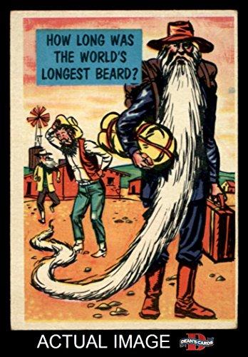 1957 Topps Isolation Booth # 86 World's Longest Beard (Card) Dean's Cards 4 - VG/EX (Longest Beard)