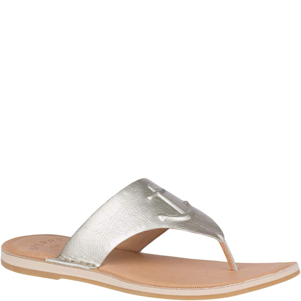Grey Sperry Womens Seaport Thong Sandal