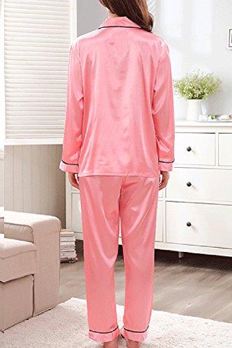 Camicie 2 Pc Pantaloni Pigiamoni Maniche I Ancora Rosa Donne Le Lunghe Nimpansa E Pigiama A 4xwCvqpv