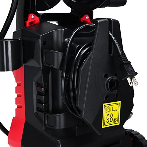 Goplus Electric High Pressure Washer 2030PSI 1.6GPM Power Pressure Washer Machine w/High Pressure Hose and Wash Brush (Red) by Goplus (Image #7)
