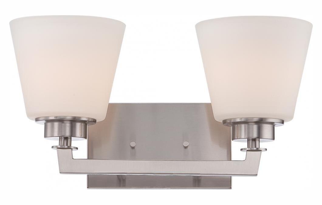 Mobili – 2ライトVanity器具W /サテンホワイトガラス   B01NCL65SJ
