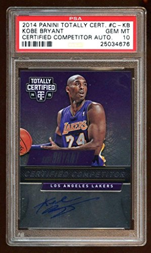 79f07388a Pop 1 10 Kobe Bryant 2014 Certified Auto  d 18 99 Oncard Auto Rare Lakers -  PSA DNA Certified - Basketball Slabbed Autographed Cards