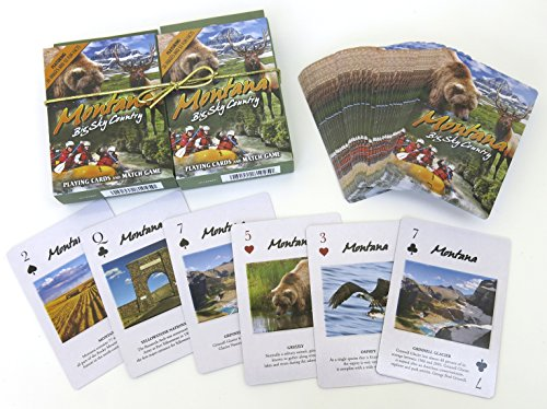 Montana, Playing Cards, Double Decker, Souvenirs by Shopitivity LLC