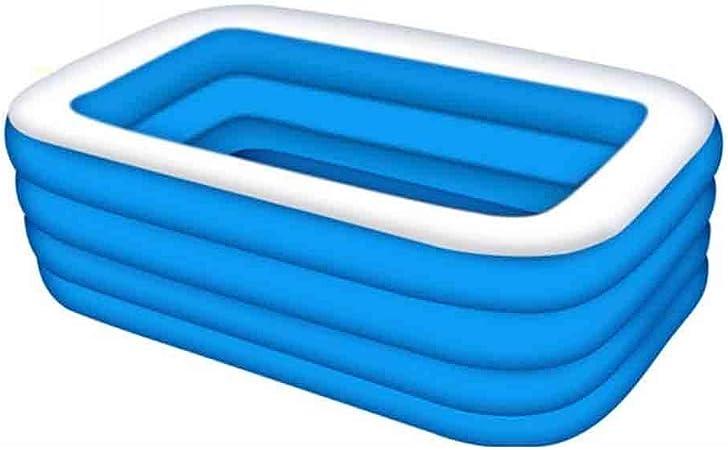 DALL Piscinas hinchables Piscina Inflable Piscina Familiar Inflable Rectangular Interior Y Exterior para Niños Y Adultos, Una Variedad De Tamaños, Azul Y Blanco (Size : 210×160×72cm): Amazon.es: Hogar