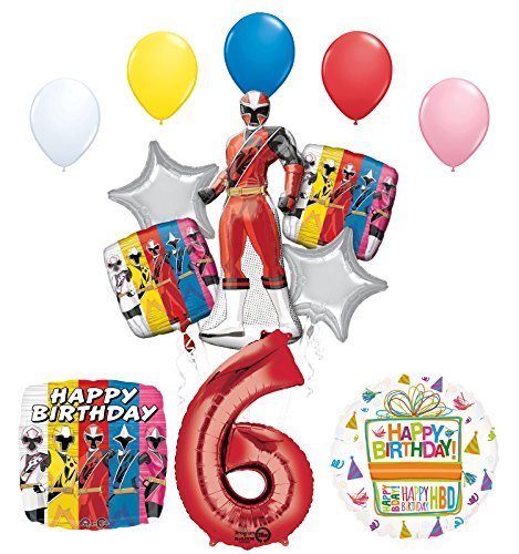 Mayflower Products The Ultimate Power Rangers Ninja Steel 6th Birthday Party Supplies and Balloon Decorations for $<!--$20.49-->