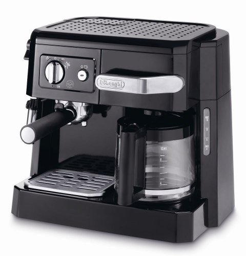 DeLonghi BCO411.B 15-Bar Combi Espresso Coffee Machine, 220-