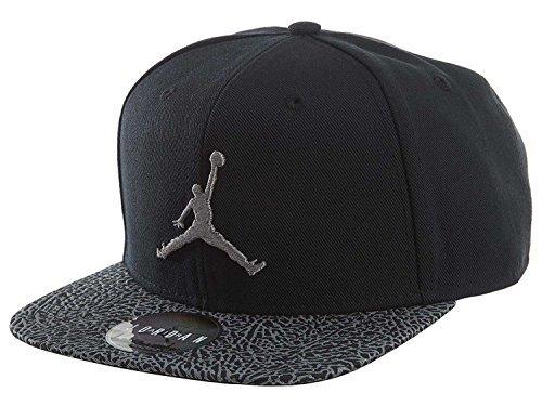 Nike Mens Air Jordan Elephant Bill Snapback Hat Black/Dust 834891-010 by NIKE
