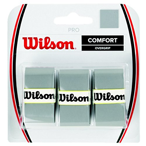 Wilson Pro Overgrip Comfort – 3 pack (Silver)