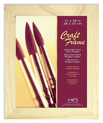 MCS 11x14 Inch Unfinished Pine Craft Frame -