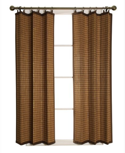 Bamboo Ring Top Curtain FBA_BRP074063-11 Panel, 40