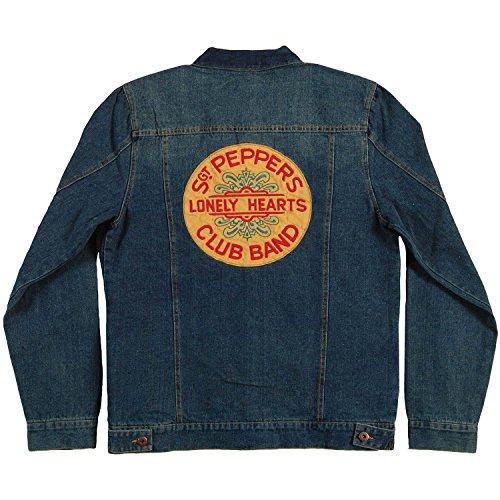 Beatles Men's Sgt Pepper Denim Denim Jacket XX-Large Blue]()
