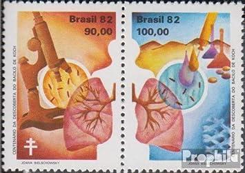 Prophila Collection Brasil Michel.-No..: 1879-1880 Pareja (Completa.edición.) 1982 Descubrimiento Tuberculosis Patógenos (Sellos para los coleccionistas) Salud: Amazon.es: Juguetes y juegos