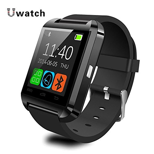 Bluetooth Smart Watch Smartwatch U8 U80 U MTK Handsfree Digital-watch Sport Bracelet Wristband for Android Phone iPhone Samsung - Ivory/Piano Black/Rose red