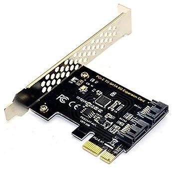 BEYIMEI Tarjeta PCI Tarjeta controladora SATA 3.0 PCI Express ...