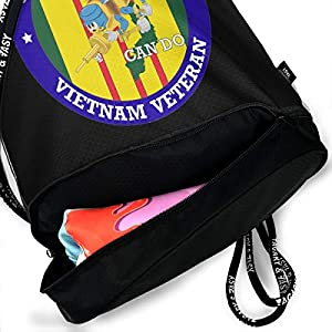 PLO U.S. Navy Seabees Vietnam Veteran Drawstring Backpack Drawstring Bag Bundle Backpack Yoga Bag from PLO