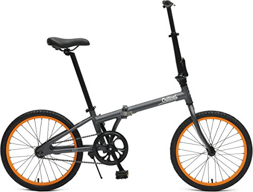 Critical Cycles 2644 Judd Folding Bike Single-Speed With Coaster Brake, Matte Graphite, 26cm/One Size (Folding Brompton Bicycle)