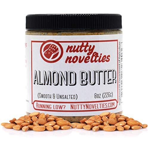 Nutty Novelties Classic Almond Butter - High Protein, Sweet Almond Butter - No Added Sugar - All-Natural, Pure Almond Butter Free of Cholesterol & Preservatives - Vegan Almond Butter - 8 Ounces