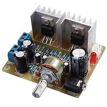 TOOGOO Doble canal TDA2030A Kit DIY amplificador de potencia para ...