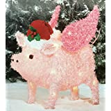 Flying Pig Yard Décor – Light Up Pig Christmas Decoration by Holiday Time (1)