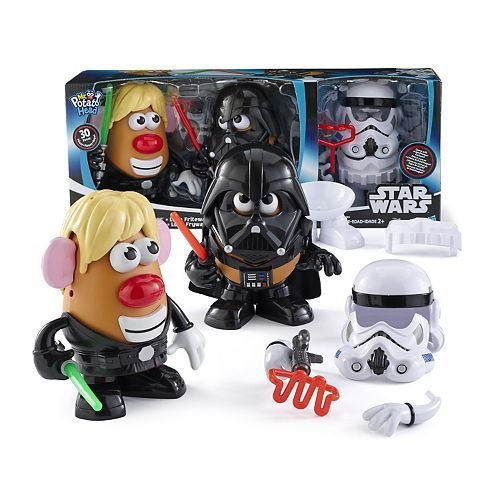 Disney Star Wars Mr Potato Head 30 Piece Set Luke Frywalker Darth Tater & Spudtrooper Costume (Mr Disney Potato)