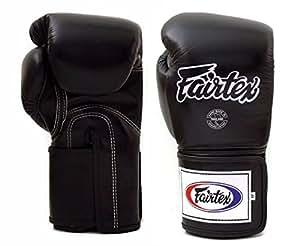 Fairtex Boxing Gloves BGV5 - Super Sparring Gloves, Black/White Color. Size: 12 14 16 oz. Sparring Gloves for Kick Boxing, Muay Thai, MMA, Unisex, Black, 12 oz