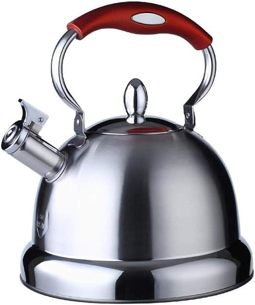 Tetera para Estufa 5L Hervidor de Agua de Acero Inoxidable Tetera de Gran Capacidad Tetera Adecuado para la Estufa de inducci/ón//Gas
