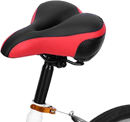 1pc Universal Bicycle Bike Seat Soft Padded Extra Wide Saddle Comfy Cushioned