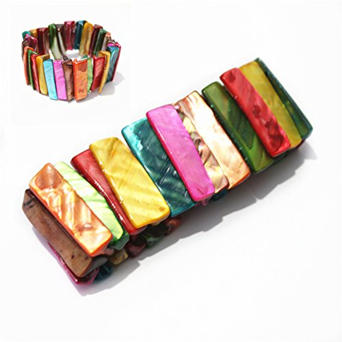 Han Chao fashion wild multi-colored candy-colored shells and mother of pearl jewelry bracelets a gift -