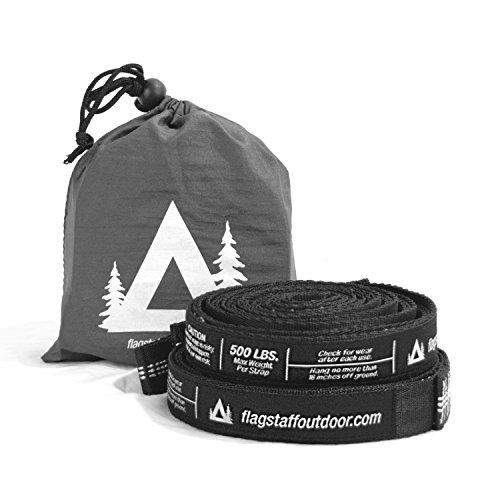 Flagstaff Outdoor Co. Hammock Straps - Tree Friendly, 20 ft Combined Length, 32 Loops, Non-Stretch, Quick & Easy Hammock Hanging - Why We Donate Should
