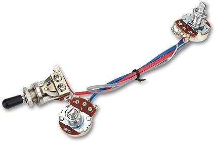 Amazon.com: Electric Guitar Wiring Harness, Guitar Wiring Harness Kit 1  Volume 1 Tone 3 Way Toggle Switch 500K for Electric Guitar: Sports &  Outdoors | Guitar Wiring Harness Volume Tone Tone |  | Amazon.com